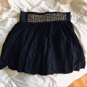 Charlotte Russe black jeweled skirt